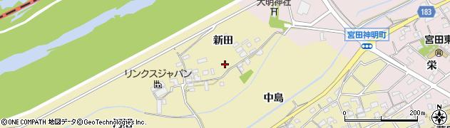 愛知県江南市宮田町(新田)周辺の地図