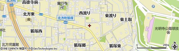 愛知県一宮市北方町北方(西六反)周辺の地図