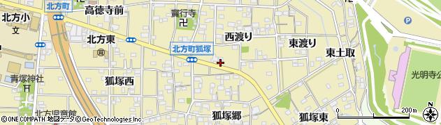 愛知県一宮市北方町北方(西渡り前)周辺の地図