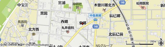 愛知県一宮市北方町中島(東郷)周辺の地図