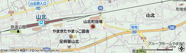 神奈川県山北町(足柄上郡)周辺の地図
