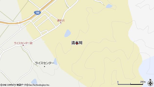 〒683-0321 鳥取県西伯郡南部町清水川の地図