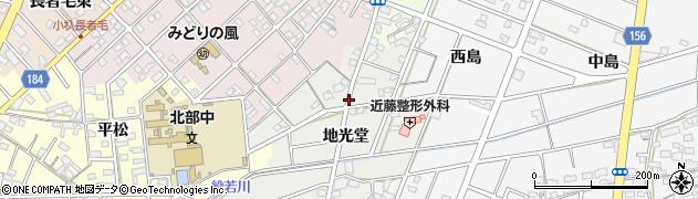 愛知県江南市勝佐町(地光堂)周辺の地図