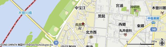 愛知県一宮市北方町北方(宝江下)周辺の地図