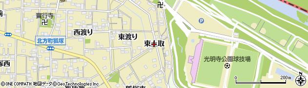 愛知県一宮市北方町北方(東土取)周辺の地図