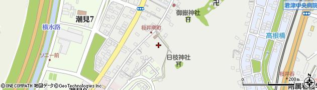 千葉県木更津市桜井周辺の地図