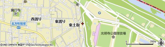 愛知県一宮市北方町北方(東山)周辺の地図
