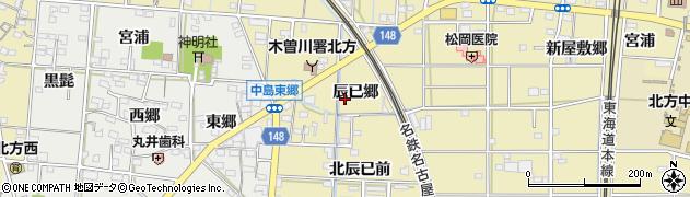 愛知県一宮市北方町北方(辰已郷)周辺の地図