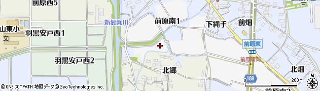 愛知県犬山市前原南周辺の地図