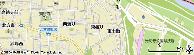 愛知県一宮市北方町北方(東渡り)周辺の地図
