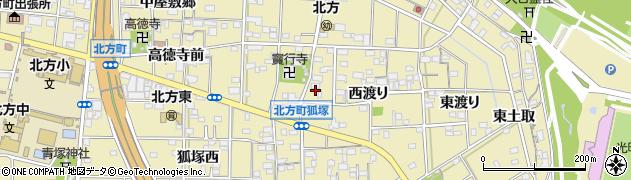 愛知県一宮市北方町北方(西渡り甲)周辺の地図