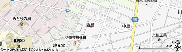 愛知県江南市和田町(西島)周辺の地図