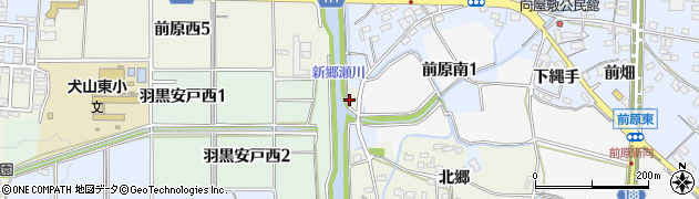 愛知県犬山市羽黒(荒神洞)周辺の地図
