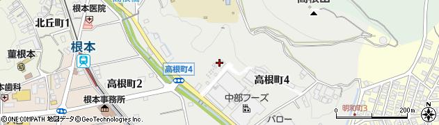 岐阜県多治見市高根町周辺の地図