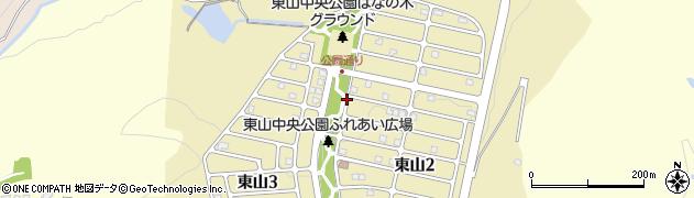 岐阜県多治見市東山周辺の地図