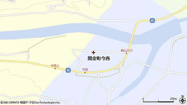 〒682-0421 鳥取県倉吉市関金町今西の地図