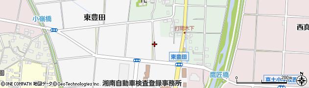 神奈川県平塚市東豊田周辺の地図