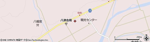 京都府綾部市八津合町(岸ノ下)周辺の地図