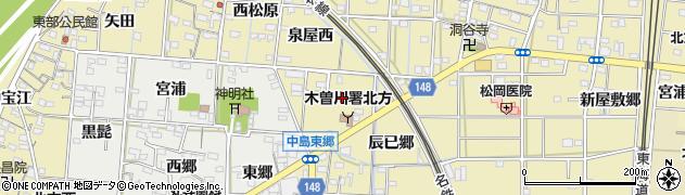 愛知県一宮市北方町北方(西金丸)周辺の地図