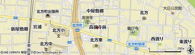 愛知県一宮市北方町北方(高徳寺前)周辺の地図