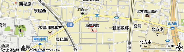 愛知県一宮市北方町北方周辺の地図