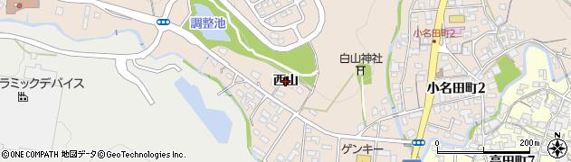 岐阜県多治見市小名田町(西山)周辺の地図