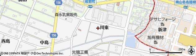 愛知県江南市和田町(川東)周辺の地図