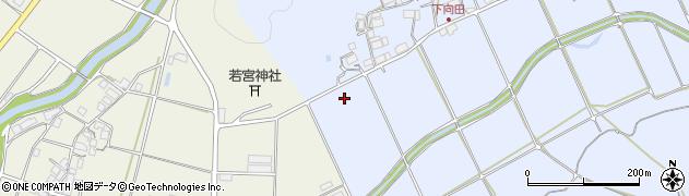 京都府綾部市向田町(中水)周辺の地図