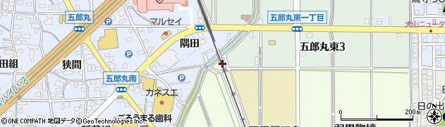 愛知県犬山市五郎丸(道下)周辺の地図