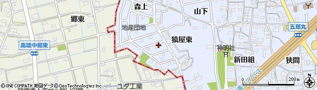 愛知県犬山市五郎丸(猿屋東)周辺の地図