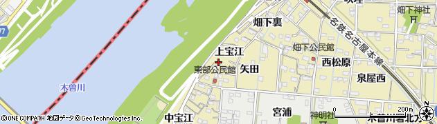 愛知県一宮市北方町北方(西矢田)周辺の地図