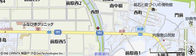愛知県犬山市前原(桶杁)周辺の地図