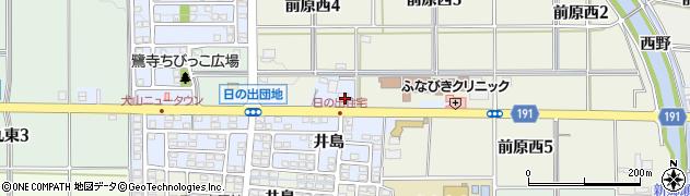 愛知県犬山市前原(桜坪)周辺の地図