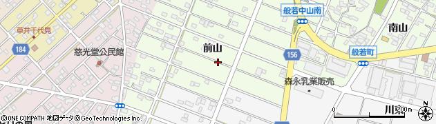 愛知県江南市般若町(前山)周辺の地図