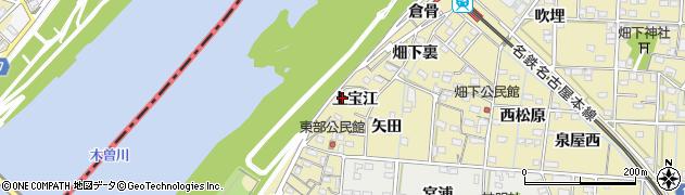 愛知県一宮市北方町北方(上宝江)周辺の地図