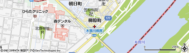 岐阜県羽島郡笠松町柳原町89周辺の地図