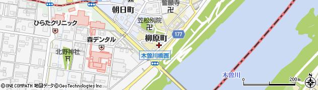 岐阜県羽島郡笠松町柳原町91周辺の地図