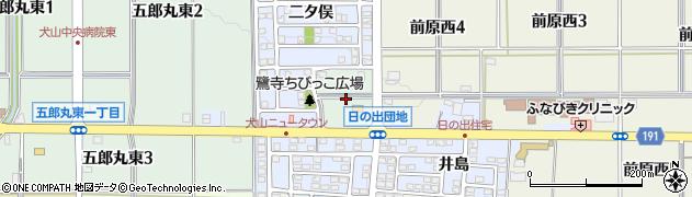 愛知県犬山市五郎丸東周辺の地図
