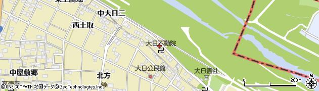 愛知県一宮市北方町北方(中大日一)周辺の地図