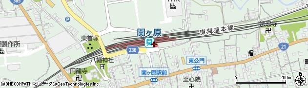 岐阜県不破郡関ケ原町周辺の地図