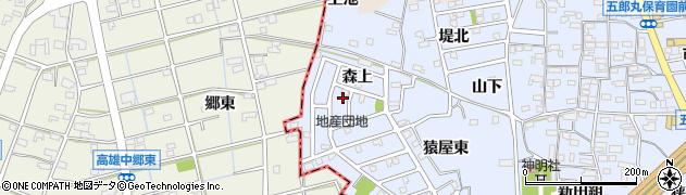 愛知県犬山市五郎丸(森上)周辺の地図