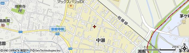 神奈川県寒川町(高座郡)中瀬周辺の地図