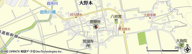 徳願寺周辺の地図