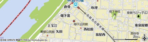 愛知県一宮市北方町北方(畑下郷)周辺の地図