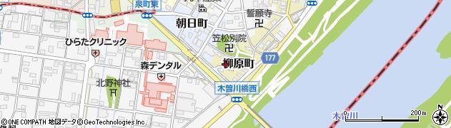 岐阜県羽島郡笠松町柳原町108周辺の地図