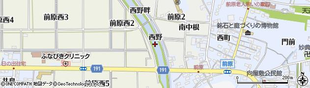愛知県犬山市前原(西野)周辺の地図