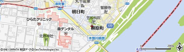 岐阜県羽島郡笠松町柳原町105周辺の地図