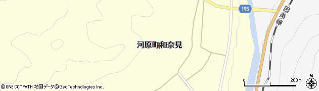 鳥取県鳥取市河原町和奈見周辺の地図
