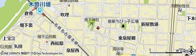 愛知県一宮市北方町北方(西泉屋郷)周辺の地図