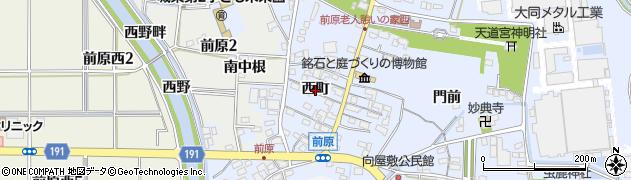 愛知県犬山市前原(西町)周辺の地図